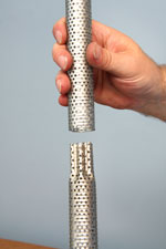 Crimped End Perforated Tube